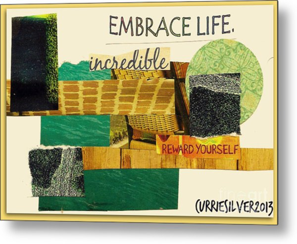 Embrace Metal Print by Currie Silver