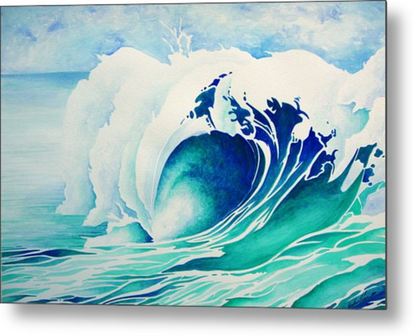 Emerald Break Metal Print