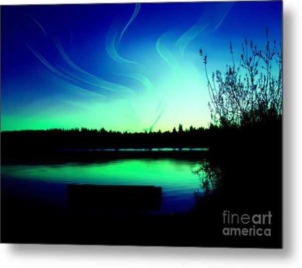 Emerald City Sunset At Lake Ballinger Metal Print