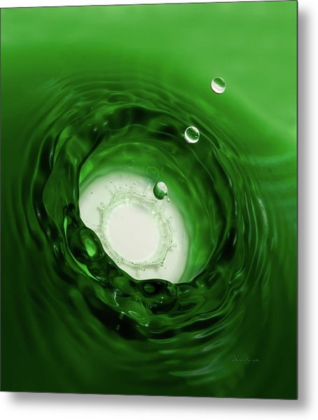 Emerald Drops Metal Print