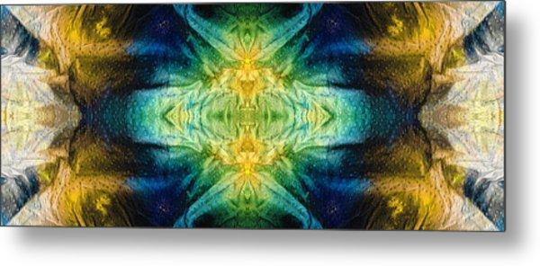 Emerald Kiss Abstract Art By Sharon Cummings Metal Print