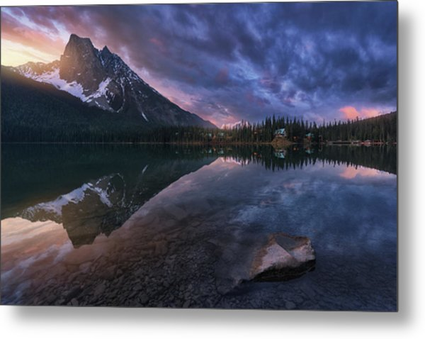 Emerald Light. Metal Print