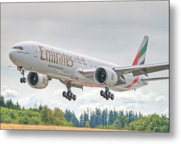 Emirates 777 Metal Print