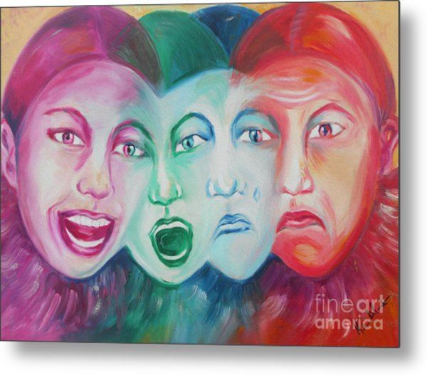 Emotions Metal Print by Melanie Alcantara Correia