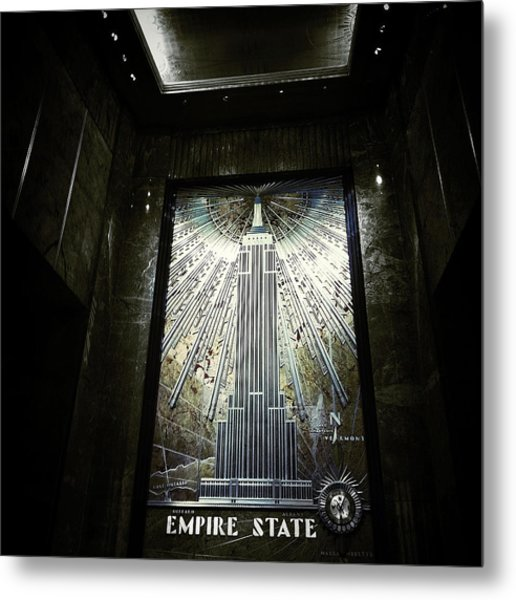 Empire Art Deco Metal Print