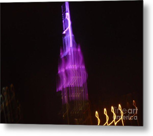 Empire Light Blur Metal Print