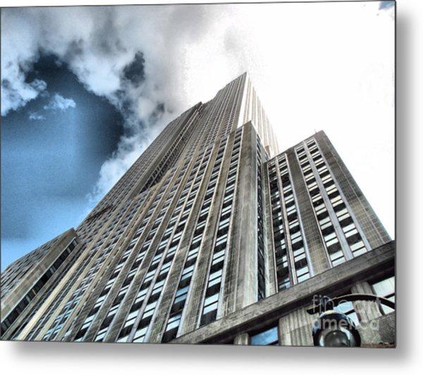 Empire State Building - Vertigo In Reverse Metal Print