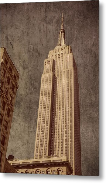 Empire State Building Vintage Metal Print