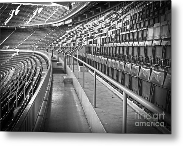 Empty Soccer Stadium Metal Print