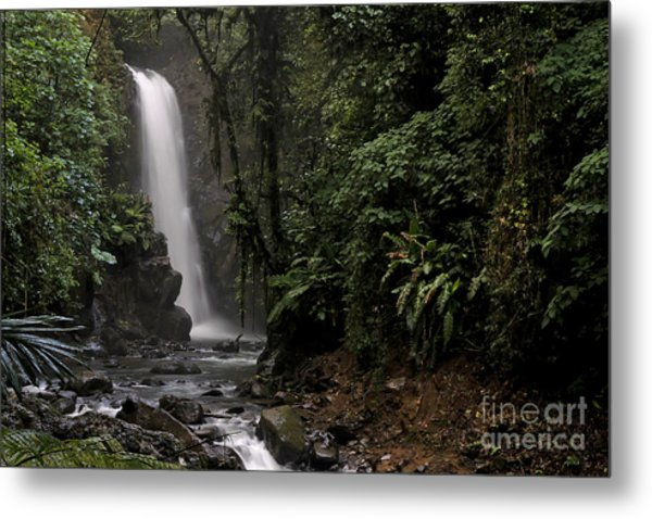 Encantada Waterfall Costa Rica Metal Print