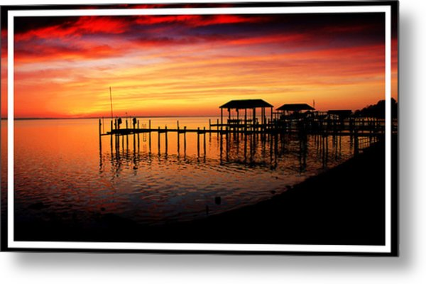 Enchanted Evening At The Hilton Pier Metal Print