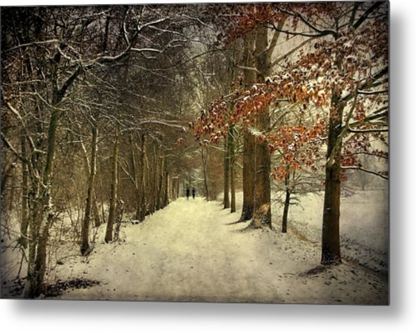 Enchanting Dutch Winter Landscape Metal Print