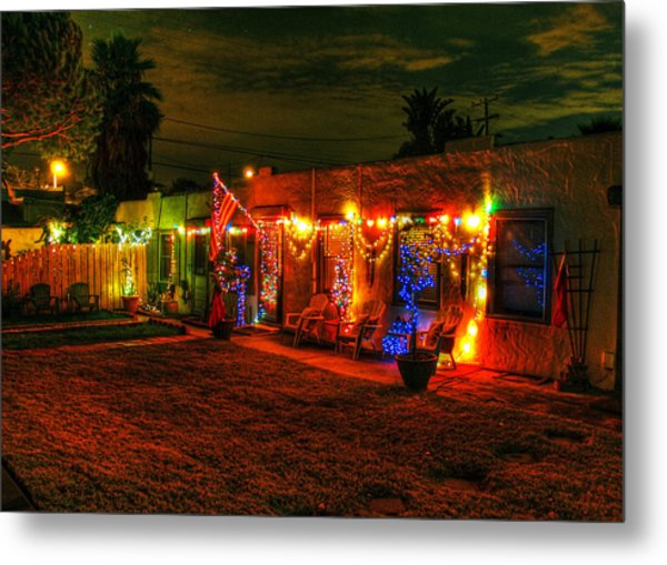 Encinitas Christmas Metal Print