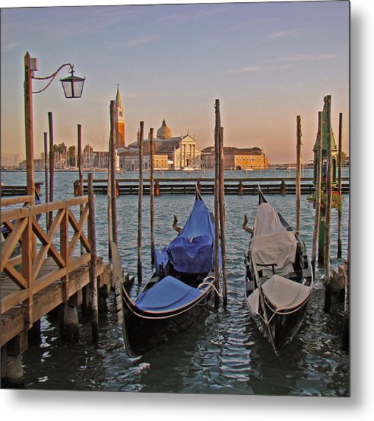 Venice End Of A Day Metal Print