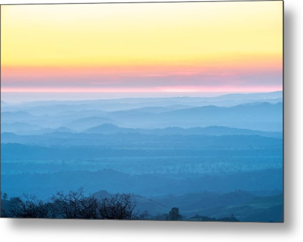 End Of Day Figueroa Mountain Metal Print