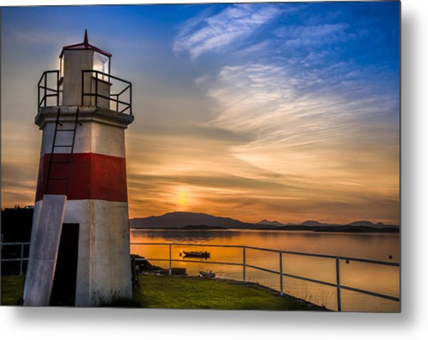 Lighthouse Crinan Canal Argyll Scotland Metal Print