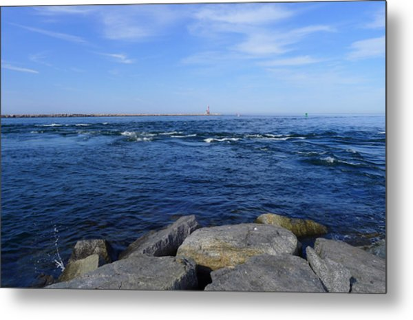 End Of  The Jetty Metal Print