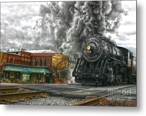 Engine 734 On The Western Maryland Scenic Railroad  Metal Print