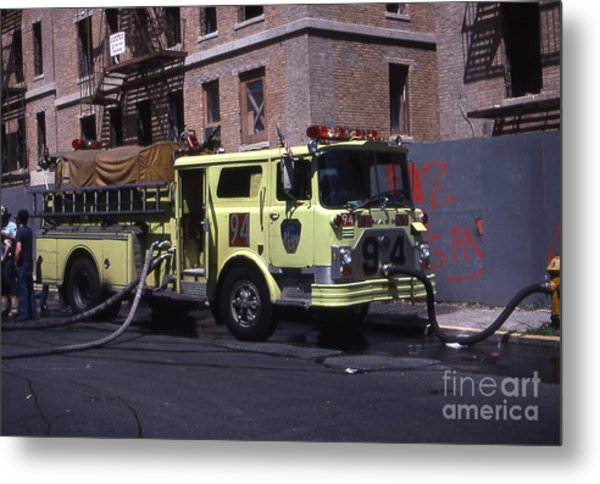 Engine 94 Fdny Lime Metal Print