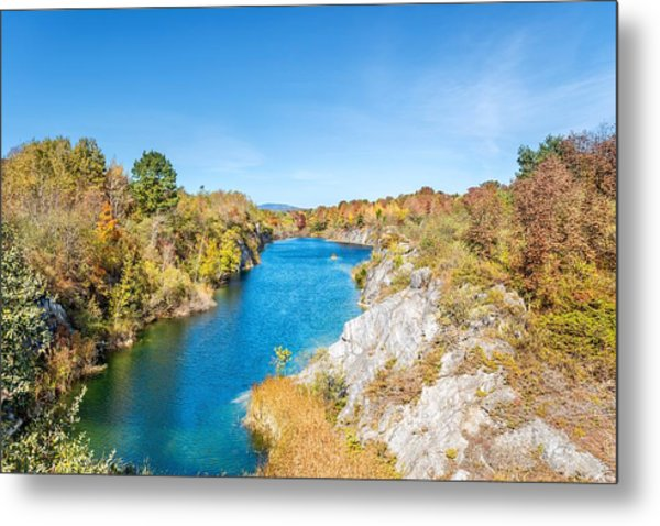 Engine Quarry In Rockland Metal Print by Tim Sullivan