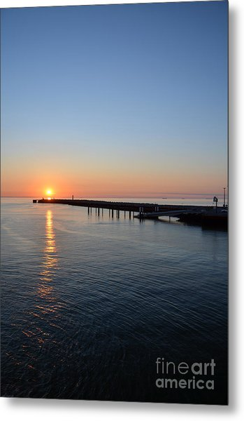 English Channel Sunset Metal Print