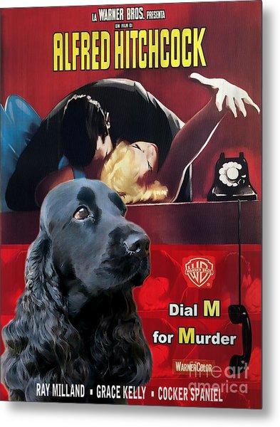 English Cocker Spaniel Art - Dial M For Murder Metal Print