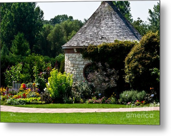 English Cottage Garden Metal Print