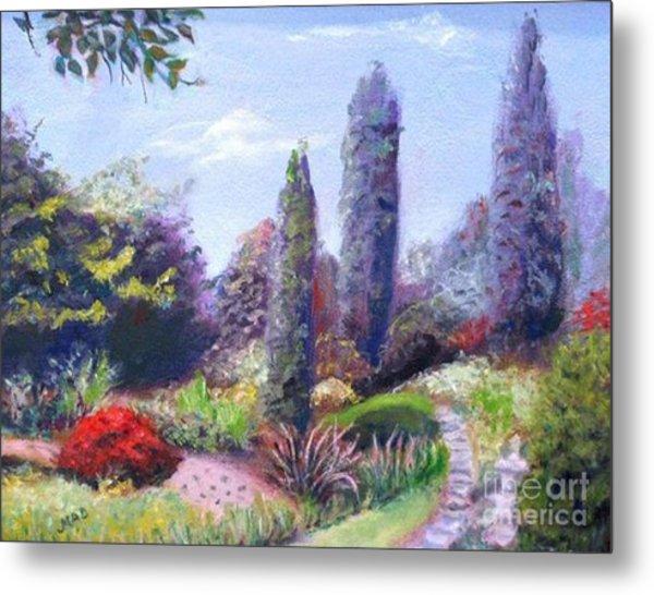 English Estate Gardens Metal Print