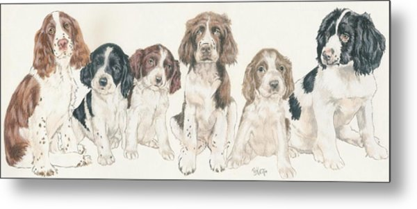 English Springer Spaniel Puppies Metal Print