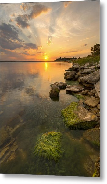 Enjoying Sunset Metal Print
