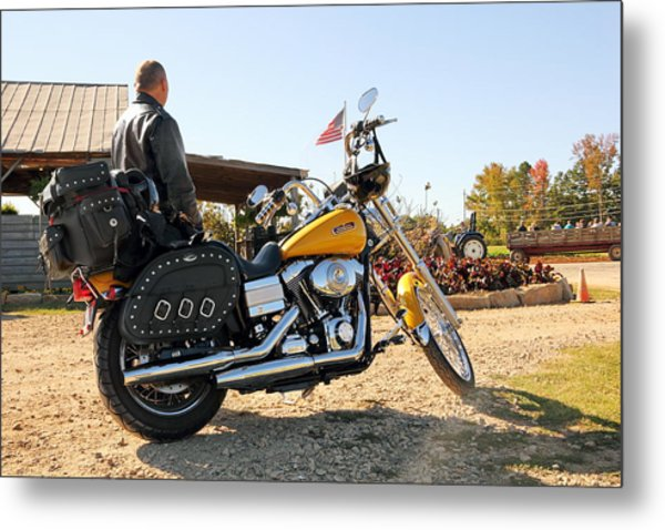 Enjoying The American Ride  Metal Print