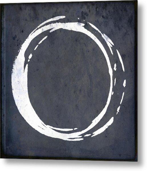 Enso No. 107 Blue Metal Print