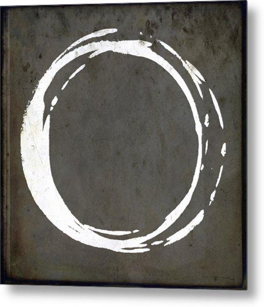 Enso No. 107 Gray Brown Metal Print