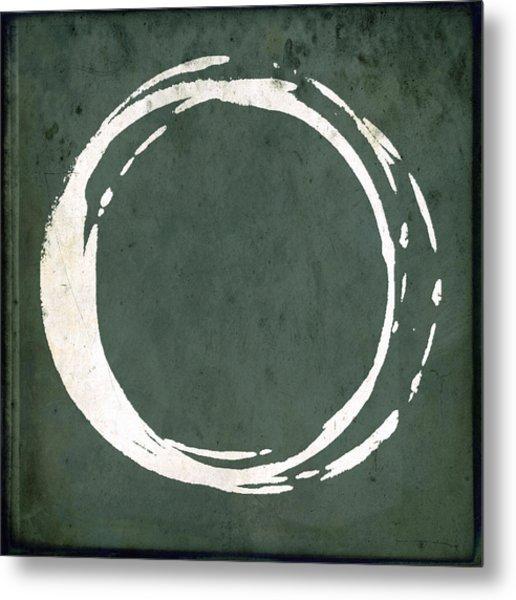 Enso No. 107 Green Metal Print