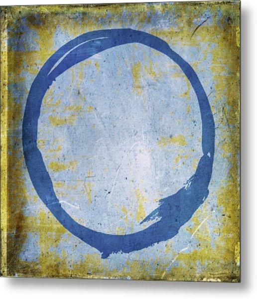 Enso No. 109 Blue On Blue Metal Print