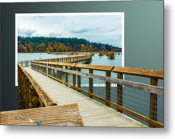 Landscape - Boardwalk - Enter Here Metal Print