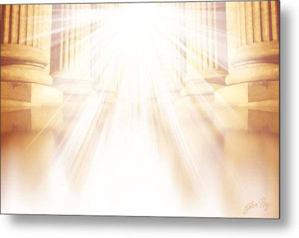 Enter Into His Courts Metal Print