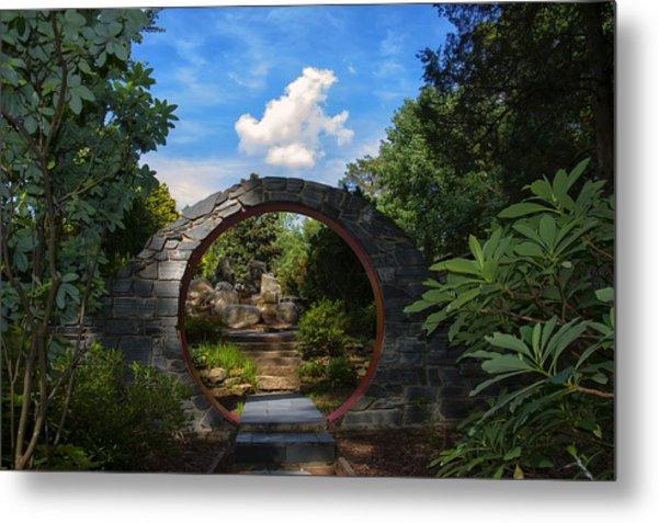Entering The Garden Gate Metal Print
