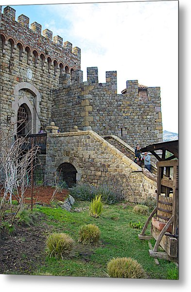 Entrance To Castello Di Amorosa In Napa Valley-ca Metal Print