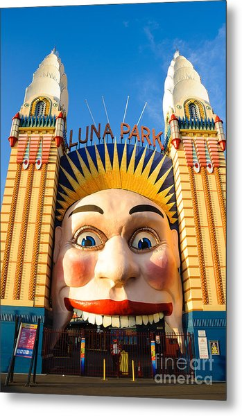 Entrance To Luna Park - Sydney - Australia Metal Print