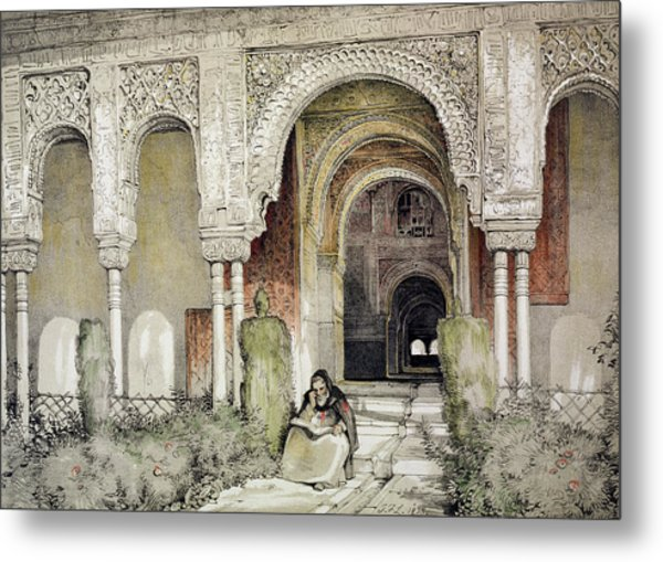 Entrance To The Hall Of The Two Sisters Metal Print