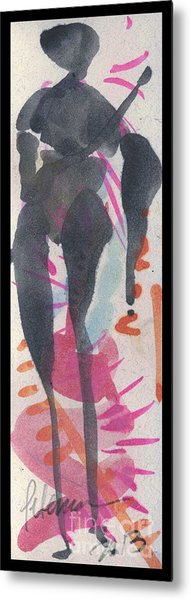 Entwined Figure Series No. 6  Your Back To The Drama Metal Print by Cathy Peterson
