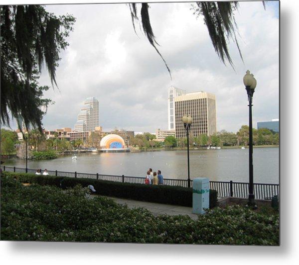 Eola Park In Orlando Metal Print