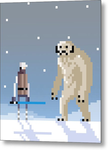 Epic Battle In The Snow Metal Print