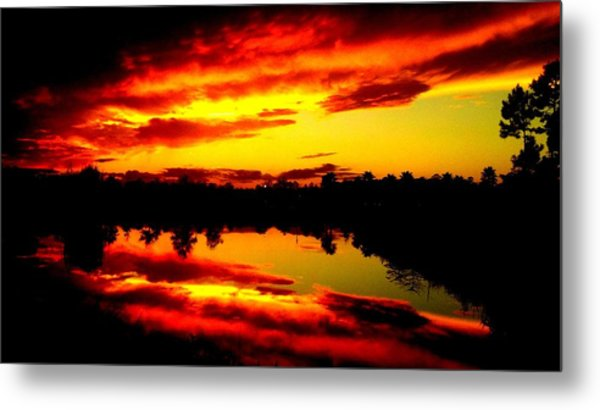 Epic Reflection Metal Print