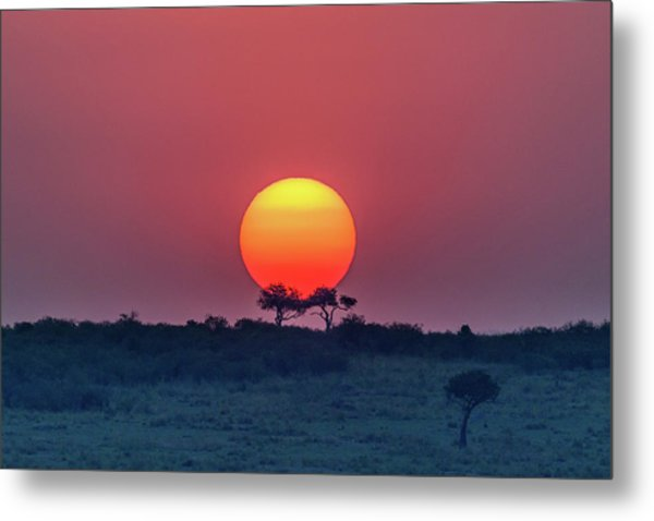 Equatorial Sunset Metal Print by Jeffrey C. Sink