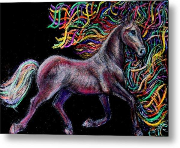 Equestrian Canter Metal Print by Elizabeth Clausen