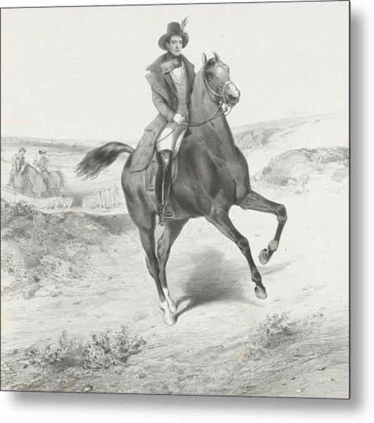 Equestrian Portrait Of Alexander I, Prince Metal Print