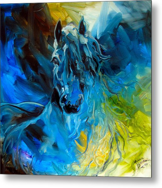 Equus Blue Ghost Metal Print by Marcia Baldwin