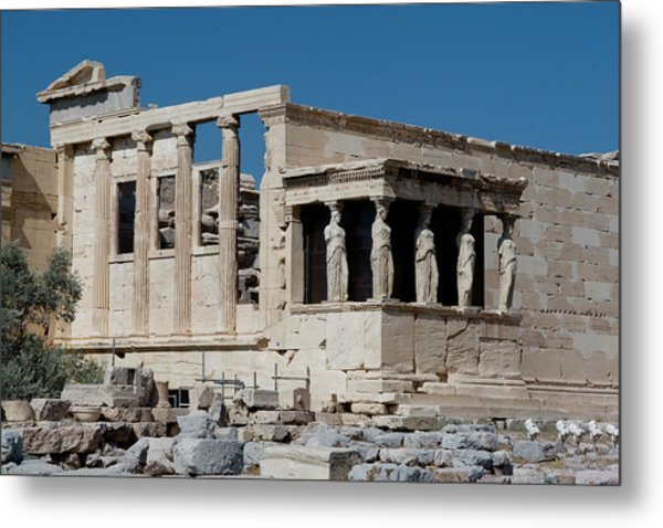 Erechtheion With The Porch Of Maidens Metal Print